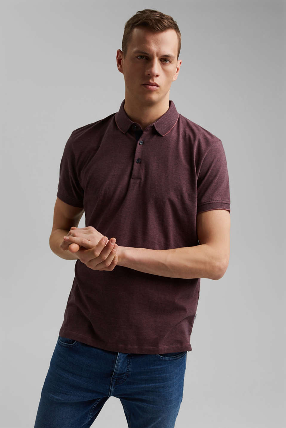 Esprit - Jersey polo shirt made of 100% organic cotton