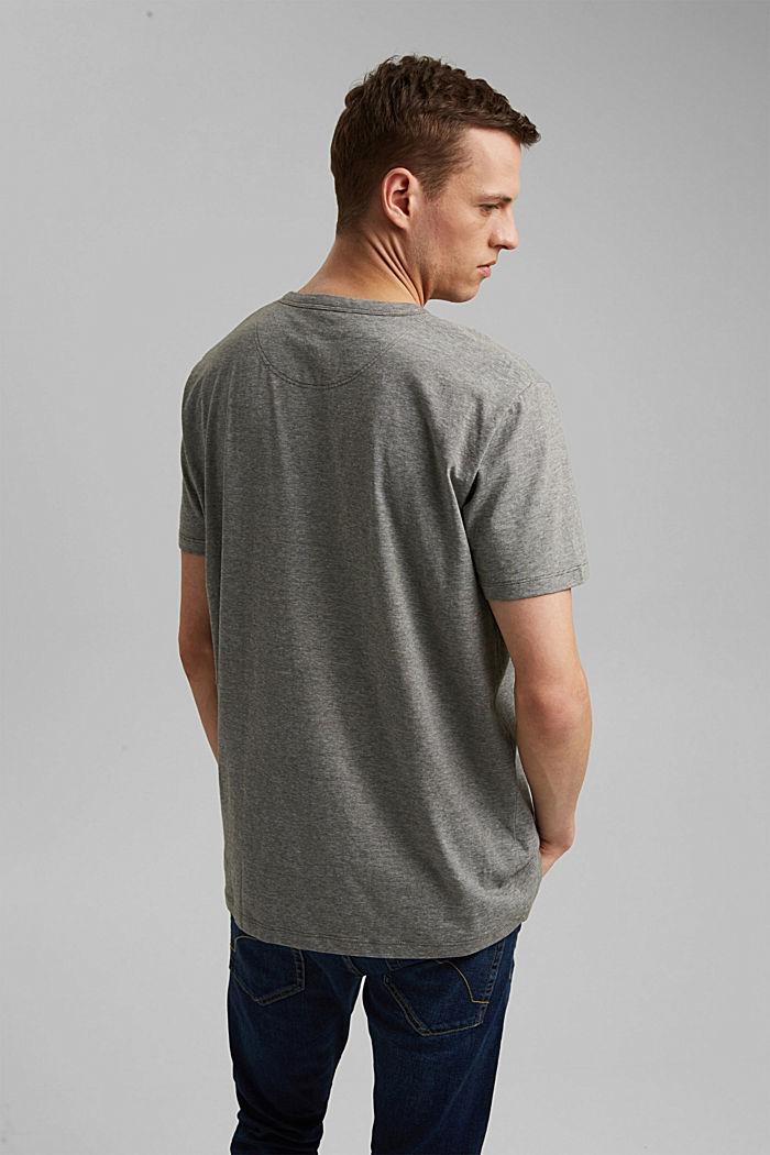 Jersey-Shirt aus 100% Organic Cotton, DARK KHAKI, detail image number 3