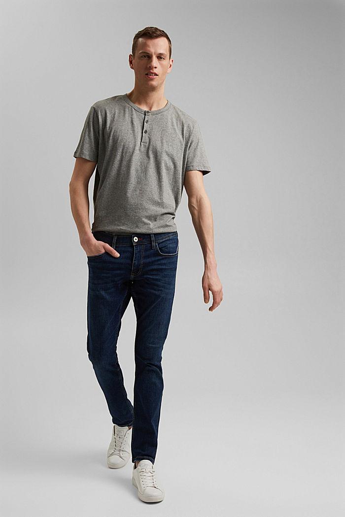 Jersey-Shirt aus 100% Organic Cotton, DARK KHAKI, detail image number 2