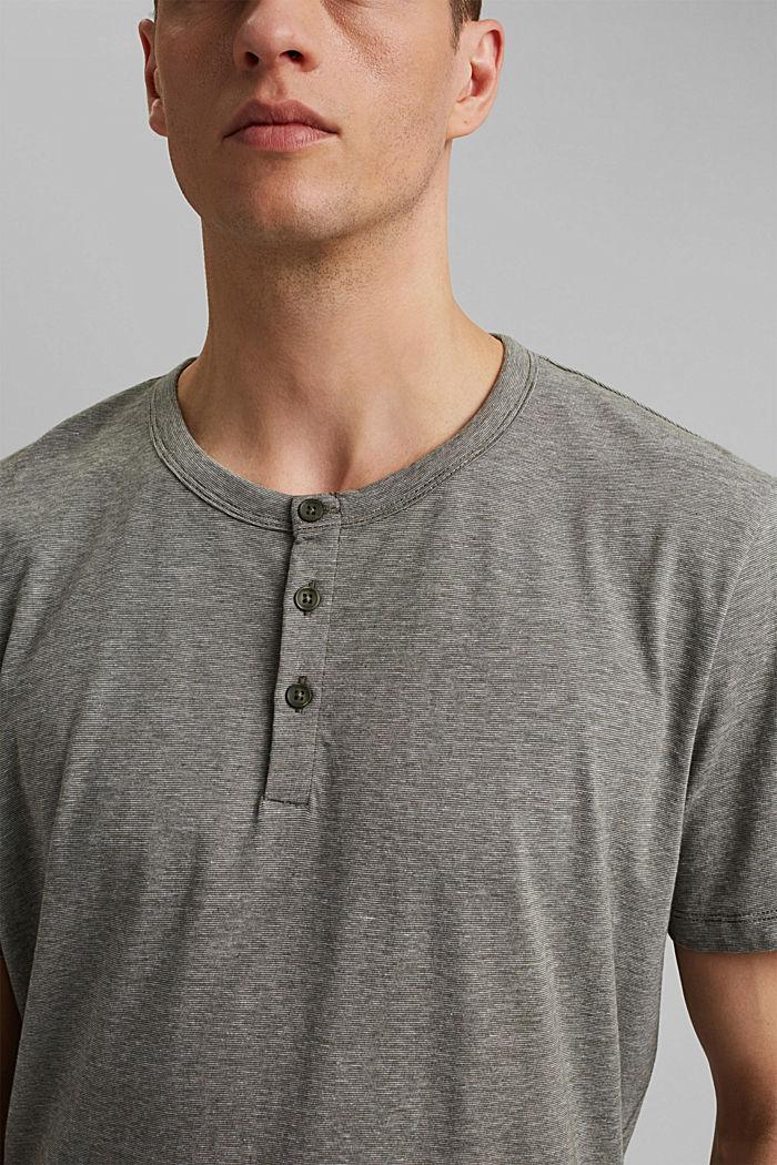 Jersey-Shirt aus 100% Organic Cotton, DARK KHAKI, detail image number 1