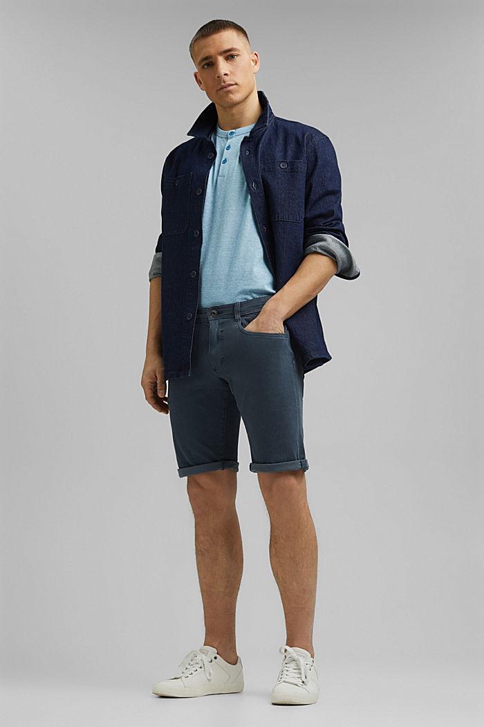 Jersey-Shirt aus 100% Organic Cotton, PETROL BLUE, detail image number 2