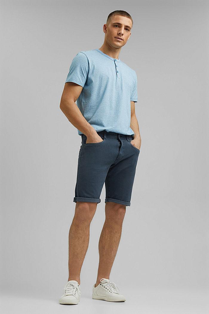 Jersey-Shirt aus 100% Organic Cotton, PETROL BLUE, detail image number 5