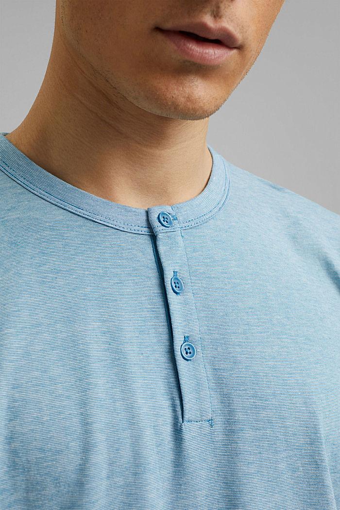 Jersey-Shirt aus 100% Organic Cotton, PETROL BLUE, detail image number 1