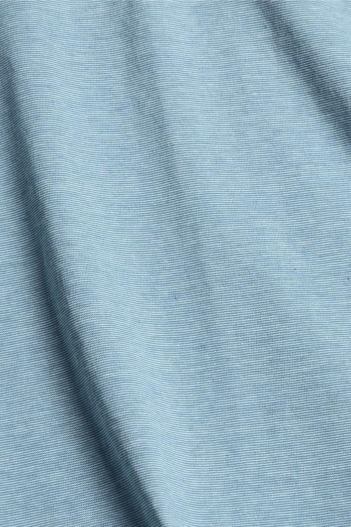 Jersey-Shirt aus 100% Organic Cotton, PETROL BLUE, detail image number 4
