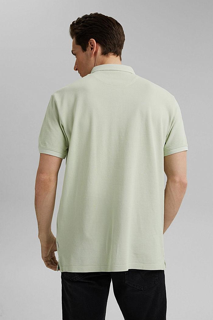 Piqué poloshirt van 100% organic cotton, PASTEL GREEN, detail image number 3