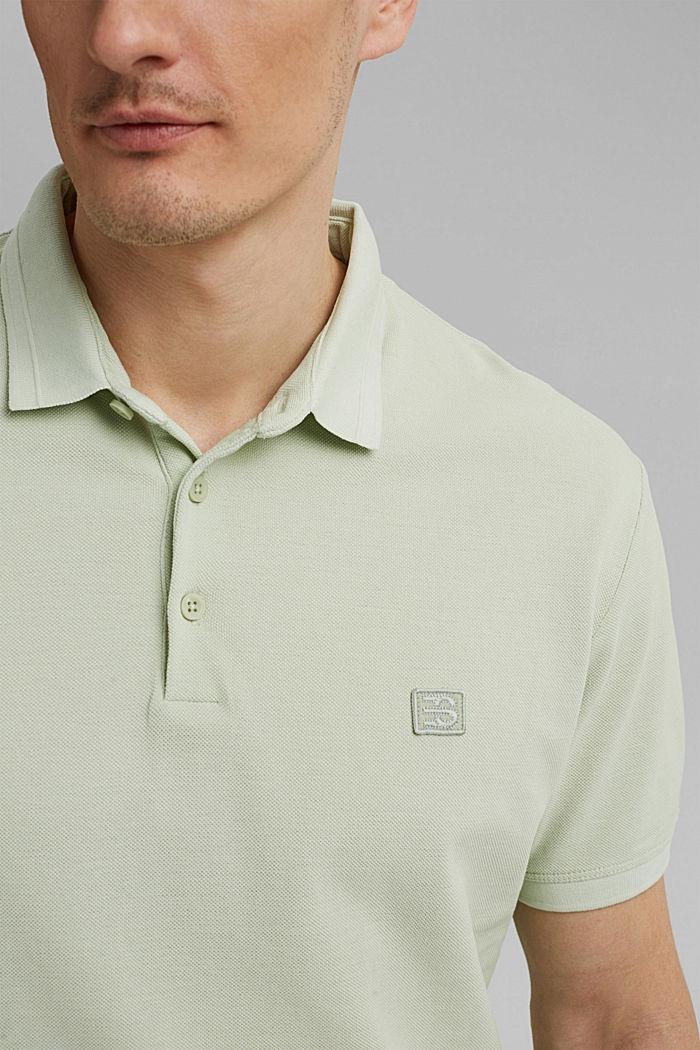 Piqué poloshirt van 100% organic cotton, PASTEL GREEN, detail image number 1