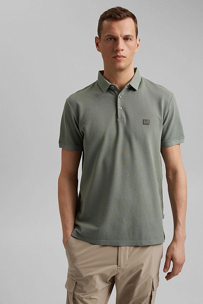 Piqué-Poloshirt aus 100% Organic Cotton, LIGHT KHAKI, detail image number 0