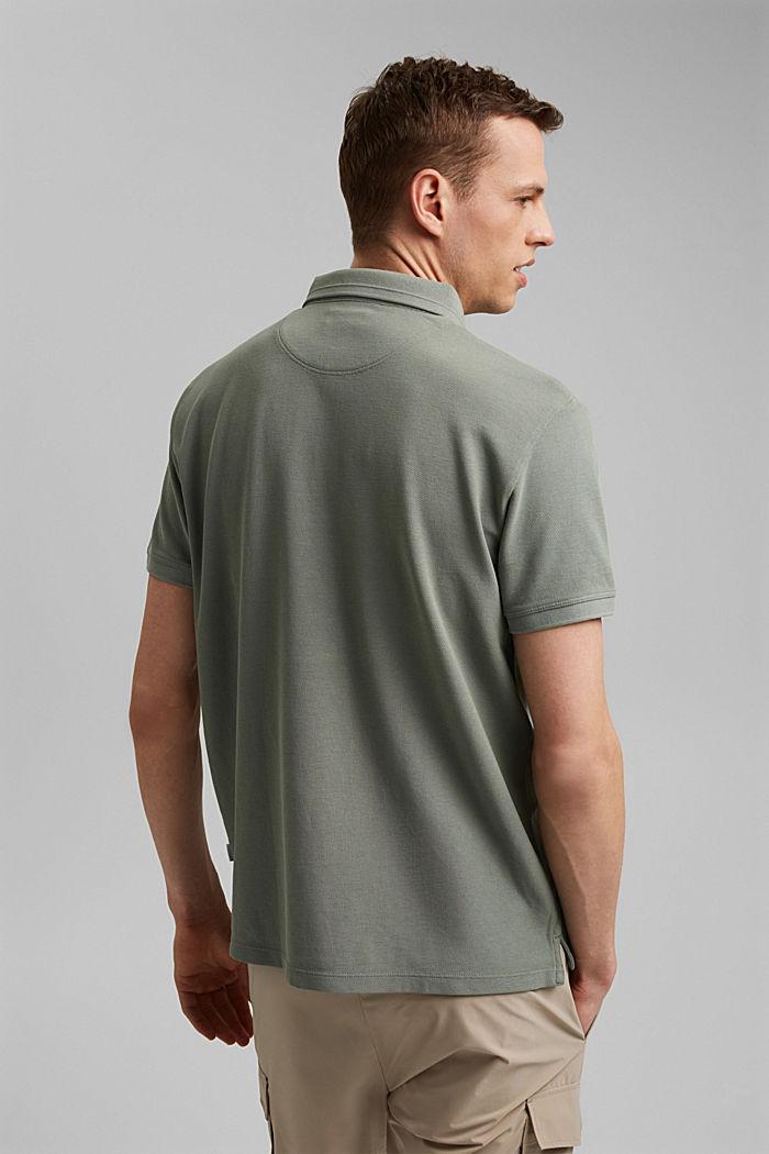 Piqué-Poloshirt aus 100% Organic Cotton, LIGHT KHAKI, detail image number 3
