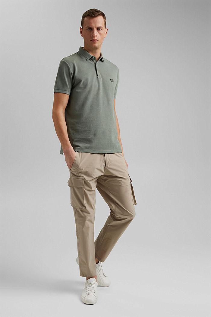Piqué-Poloshirt aus 100% Organic Cotton, LIGHT KHAKI, detail image number 2