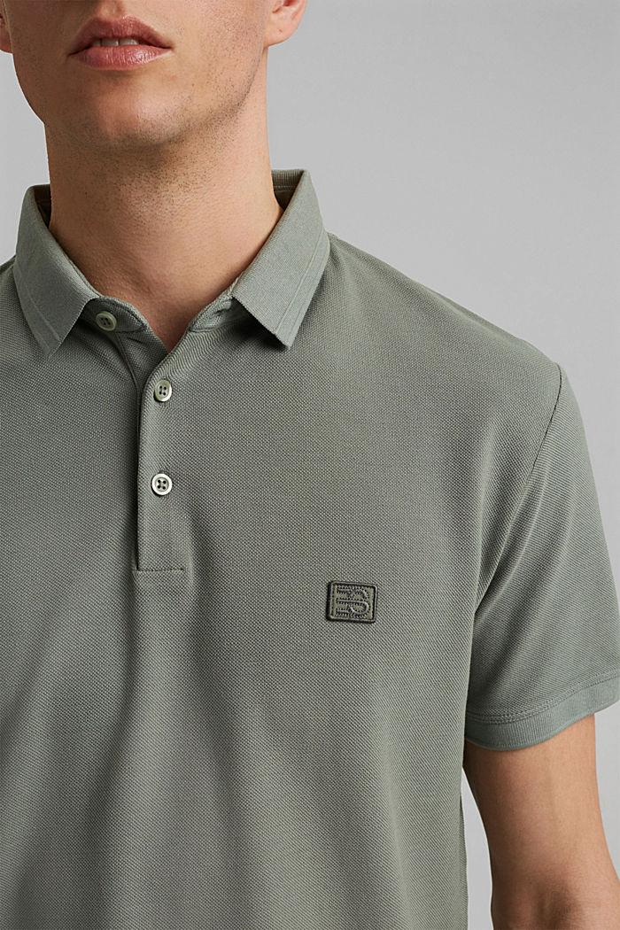 Piqué-Poloshirt aus 100% Organic Cotton, LIGHT KHAKI, detail image number 1