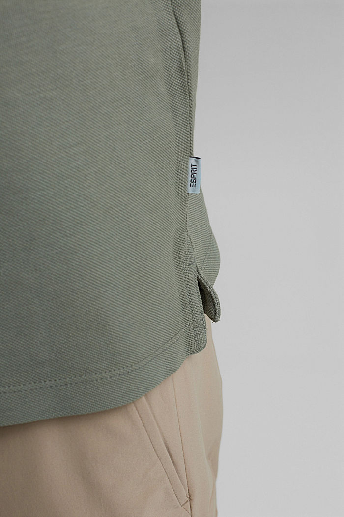 Piqué-Poloshirt aus 100% Organic Cotton, LIGHT KHAKI, detail image number 6