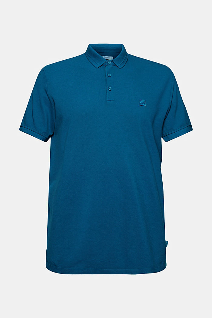 Piqué polo shirt made of 100% organic cotton, PETROL BLUE, detail image number 5