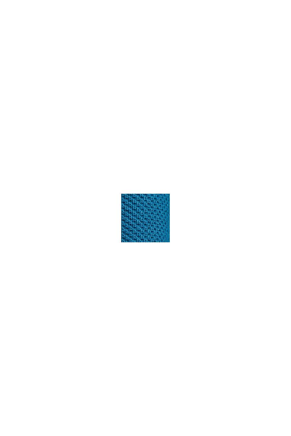 Polo en maille piquée 100% coton bio, PETROL BLUE, swatch