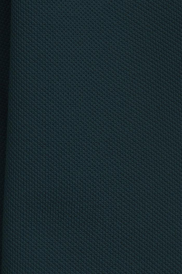 Piqué-Poloshirt aus 100% Organic Cotton, TEAL BLUE, detail image number 4