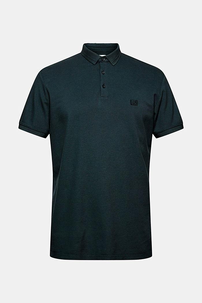 Piqué-Poloshirt aus 100% Organic Cotton, TEAL BLUE, detail image number 5