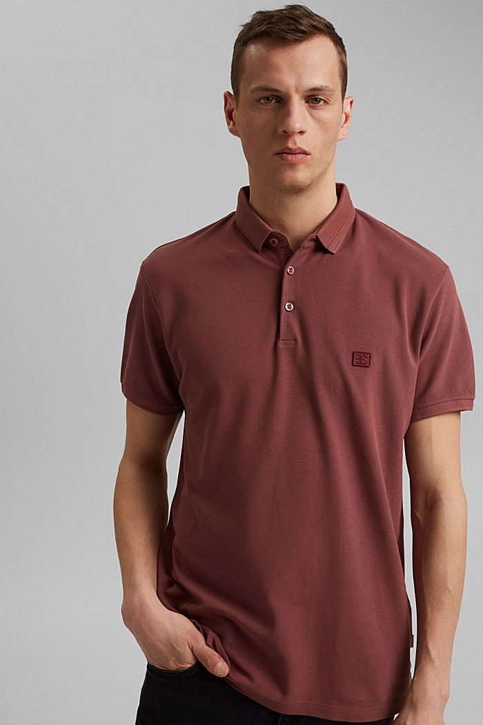Piqué polo shirt made of 100% organic cotton, BERRY RED, detail image number 0