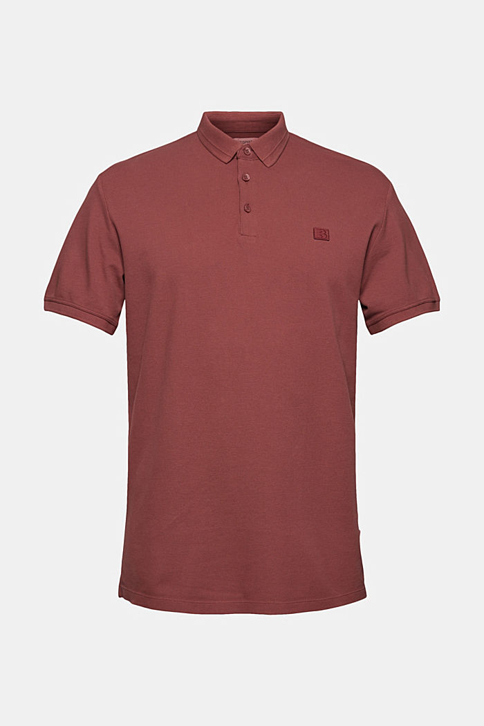 Piqué polo shirt made of 100% organic cotton, BERRY RED, detail image number 6