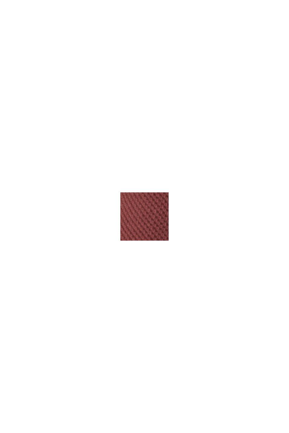 Piqué-Poloshirt aus 100% Organic Cotton, BERRY RED, swatch