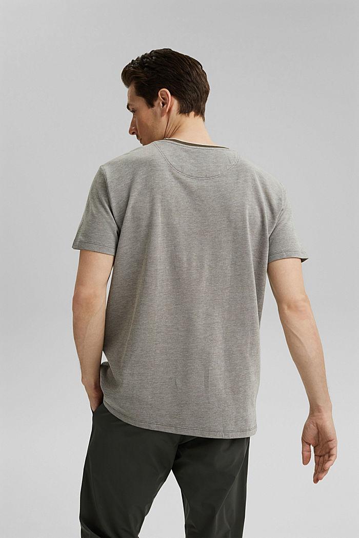 Piqué-T-Shirt aus Organic Cotton, DARK KHAKI, detail image number 3