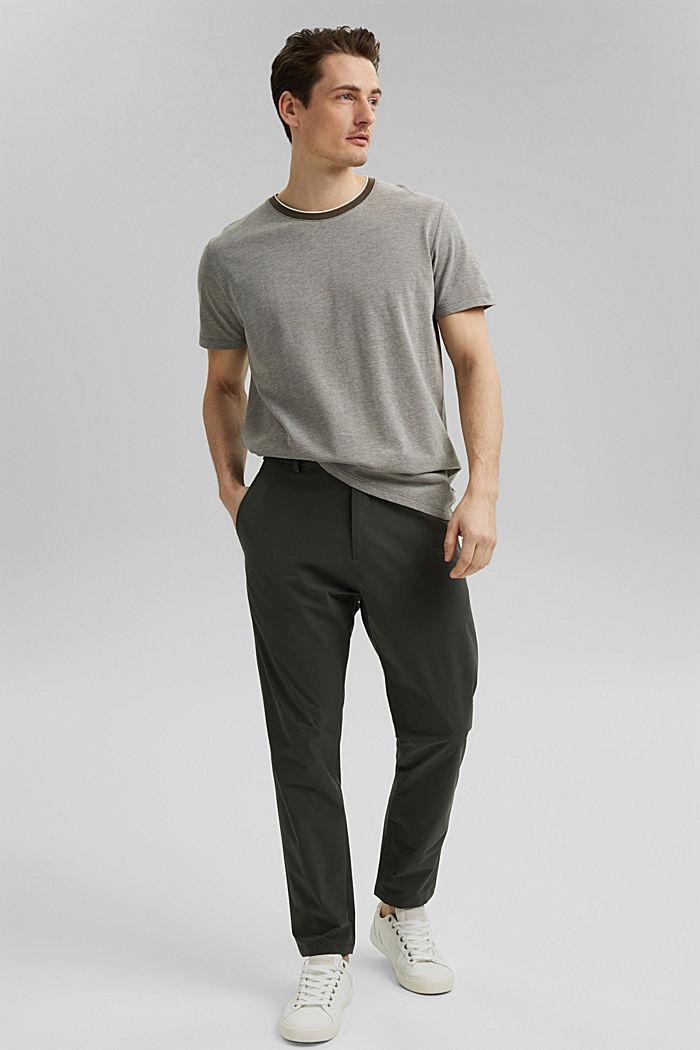 Piqué-T-Shirt aus Organic Cotton, DARK KHAKI, detail image number 5
