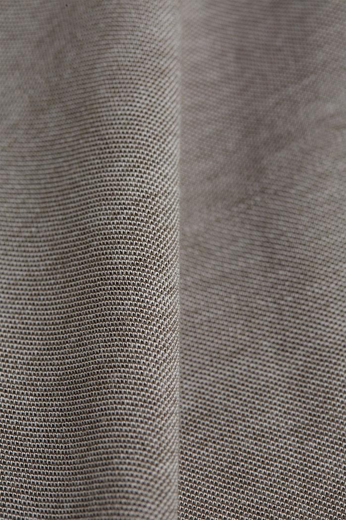 Piqué-T-Shirt aus Organic Cotton, DARK KHAKI, detail image number 4