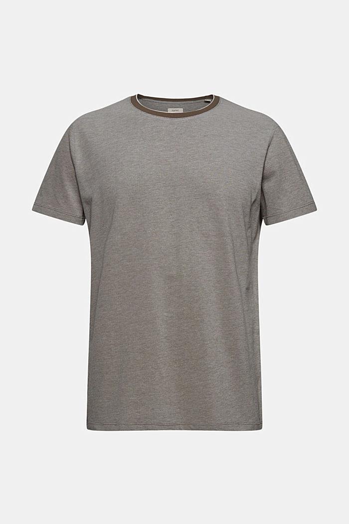 Piqué-T-Shirt aus Organic Cotton, DARK KHAKI, detail image number 6