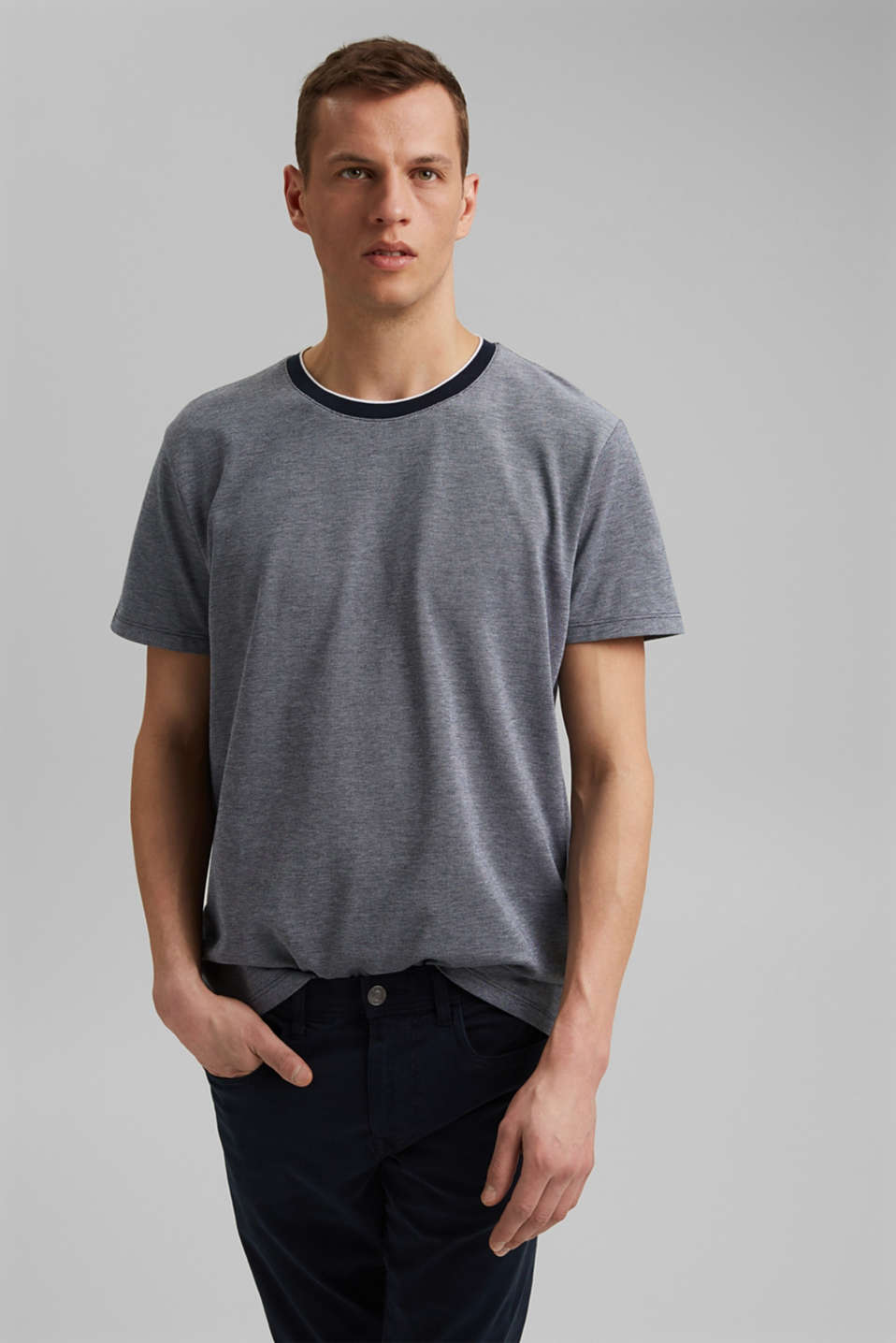 Esprit - Piqué T-shirt made of organic cotton