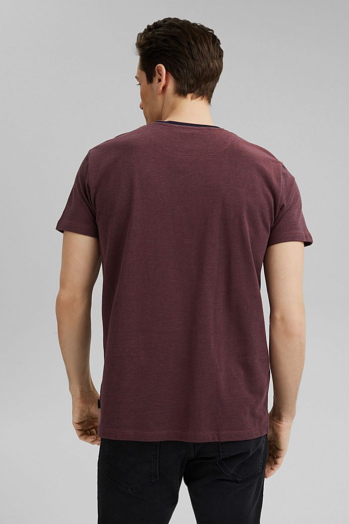 Piqué T-shirt made of organic cotton, BERRY RED, detail image number 3