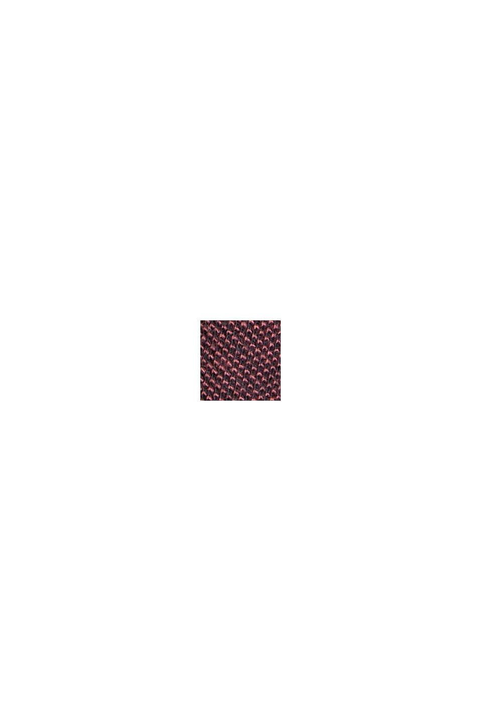 Piqué-T-Shirt aus Organic Cotton, BERRY RED, swatch