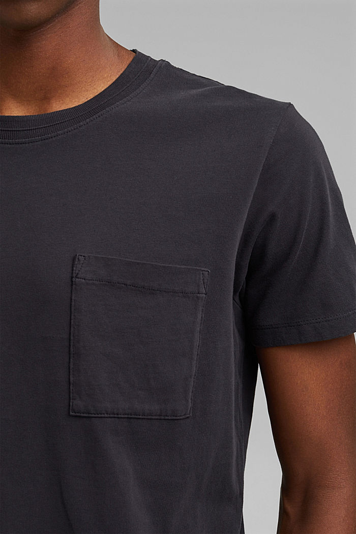 Jersey T-shirt made of 100% organic cotton, BLACK, detail image number 1