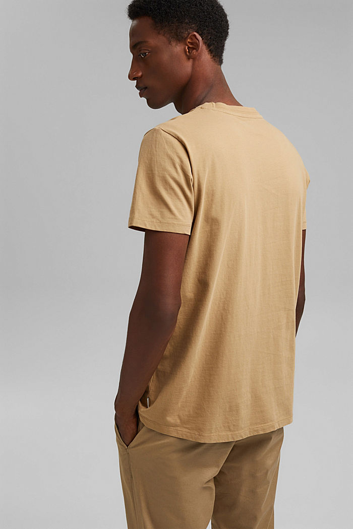 Jersey T-shirt made of 100% organic cotton, BEIGE, detail image number 3