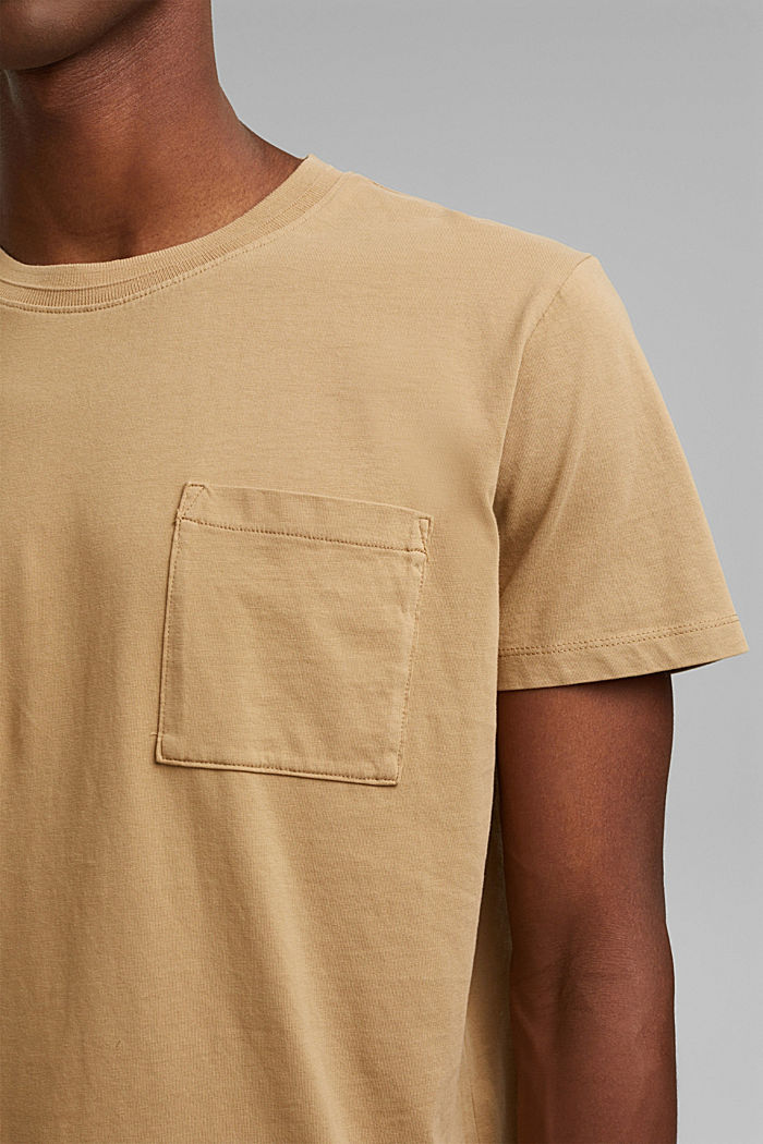 Jersey T-shirt made of 100% organic cotton, BEIGE, detail image number 1