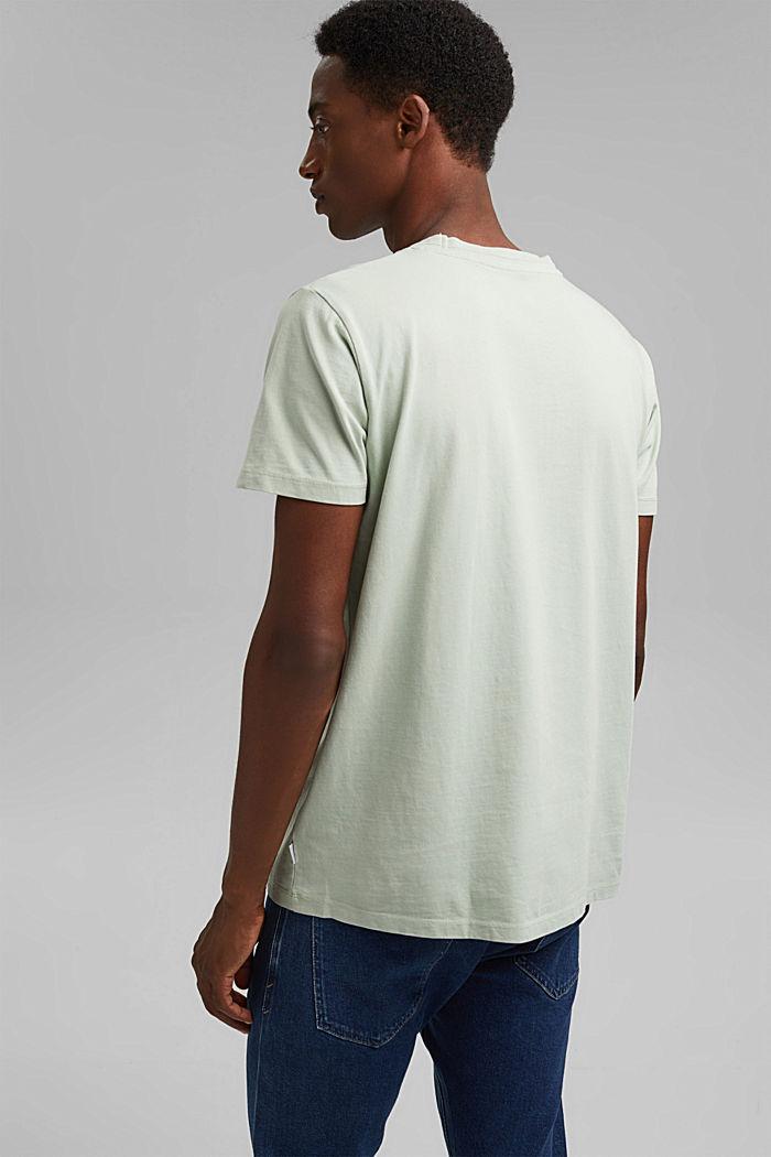 T-shirt i jersey af 100 % økologisk bomuld, PASTEL GREEN, detail image number 3