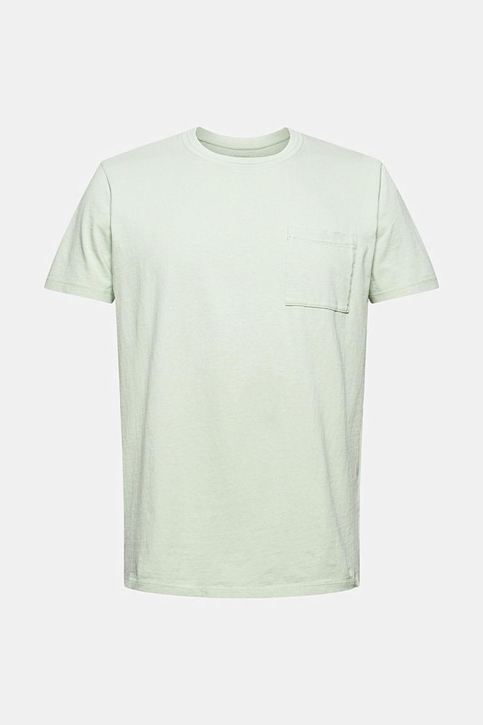 T-shirt i jersey af 100 % økologisk bomuld, PASTEL GREEN, detail image number 6