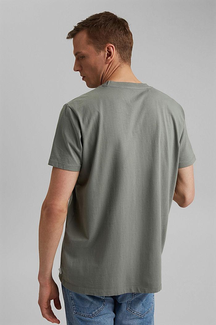 Jersey-T-Shirt aus 100% Bio-Baumwolle, LIGHT KHAKI, detail image number 3