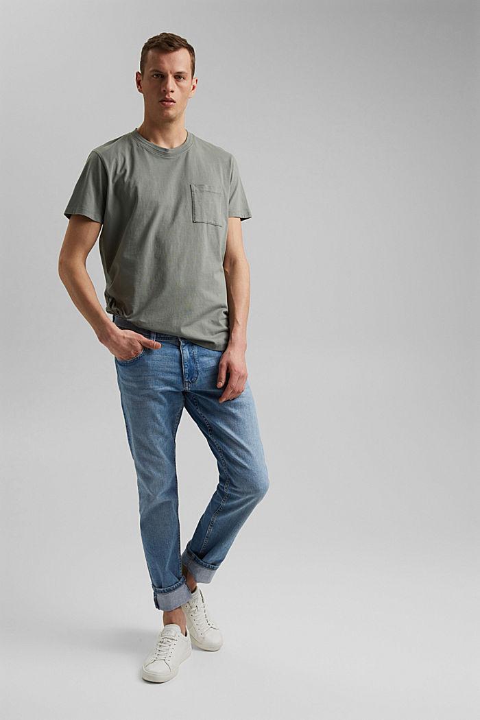 Jersey-T-Shirt aus 100% Bio-Baumwolle, LIGHT KHAKI, detail image number 2