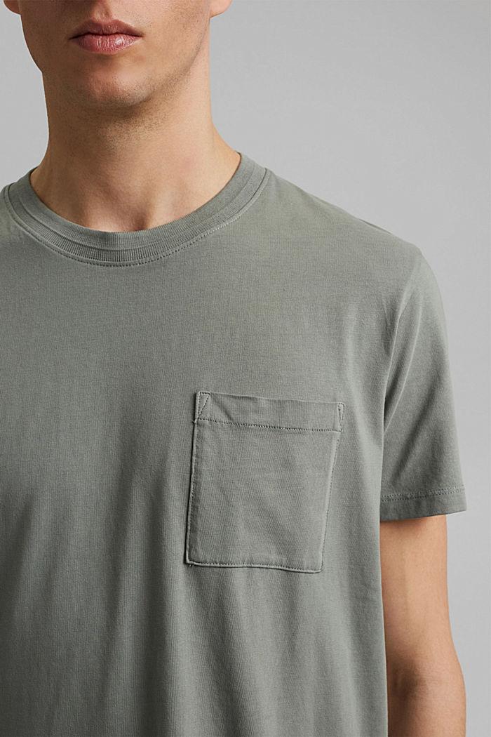 Jersey T-shirt made of 100% organic cotton, LIGHT KHAKI, detail image number 1