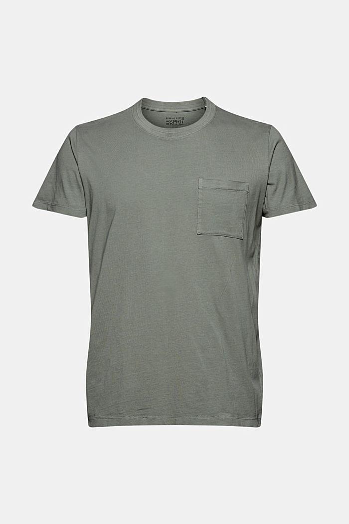 Jersey-T-Shirt aus 100% Bio-Baumwolle, LIGHT KHAKI, detail image number 6