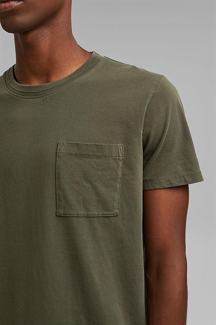 Jersey-T-Shirt aus 100% Bio-Baumwolle, DARK KHAKI, detail image number 1