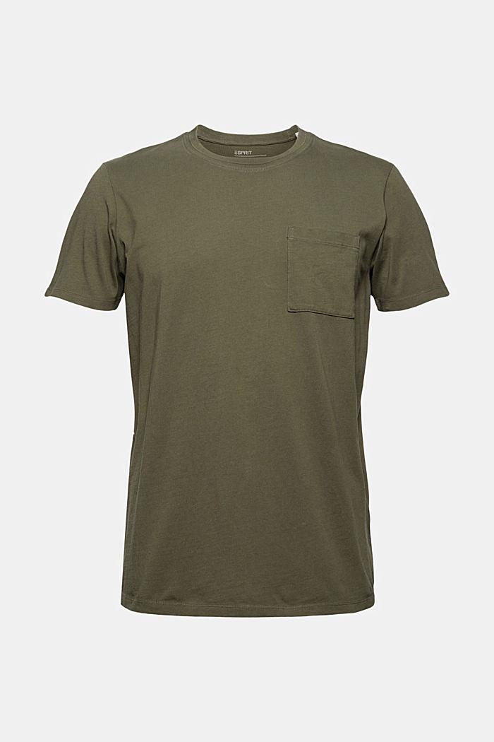 Jersey-T-Shirt aus 100% Bio-Baumwolle, DARK KHAKI, detail image number 7