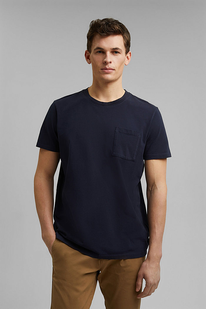 Jersey T-shirt made of 100% organic cotton, NAVY, detail image number 0