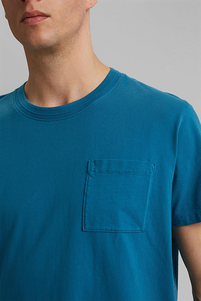 Jersey T-shirt made of 100% organic cotton, PETROL BLUE, detail image number 1