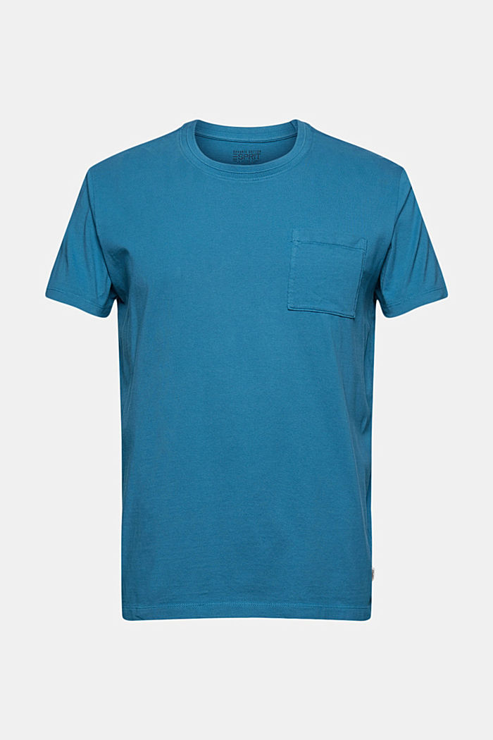 Jersey T-shirt made of 100% organic cotton, PETROL BLUE, detail image number 7