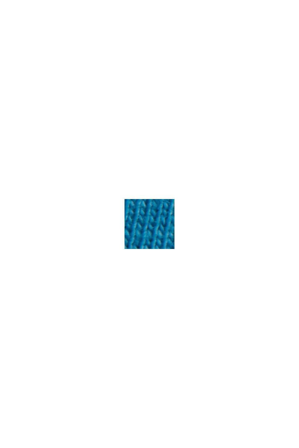 Jersey T-shirt van 100% biologisch katoen, PETROL BLUE, swatch