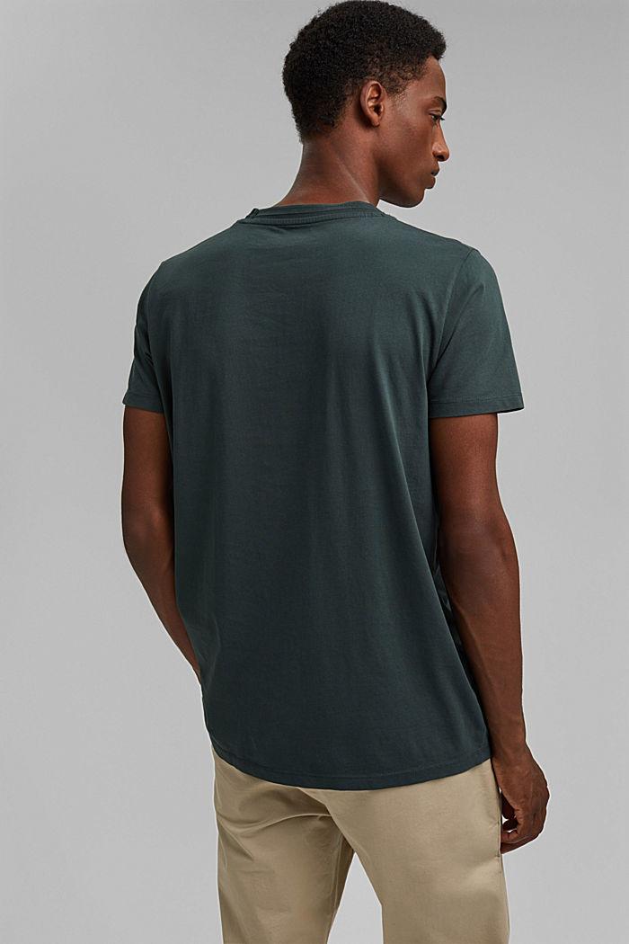 T-shirt en jersey, 100% coton bio, TEAL BLUE, detail image number 3