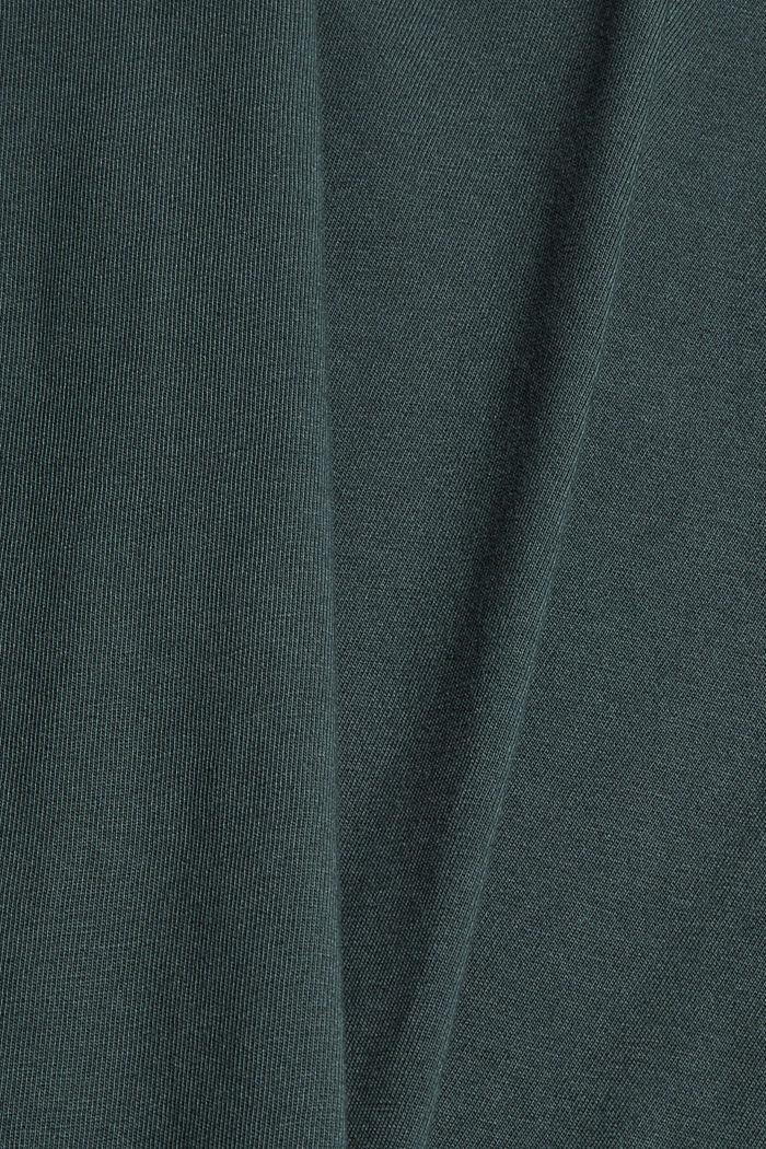 T-shirt en jersey, 100% coton bio, TEAL BLUE, detail image number 4