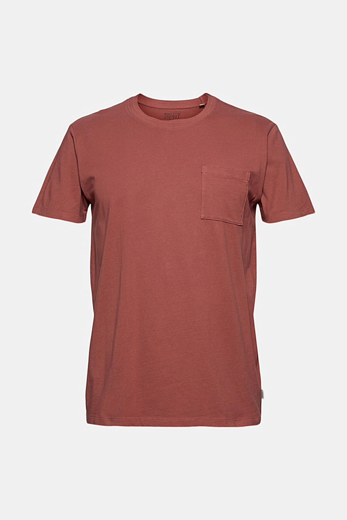 Jersey-T-Shirt aus 100% Bio-Baumwolle, BERRY RED, detail image number 5
