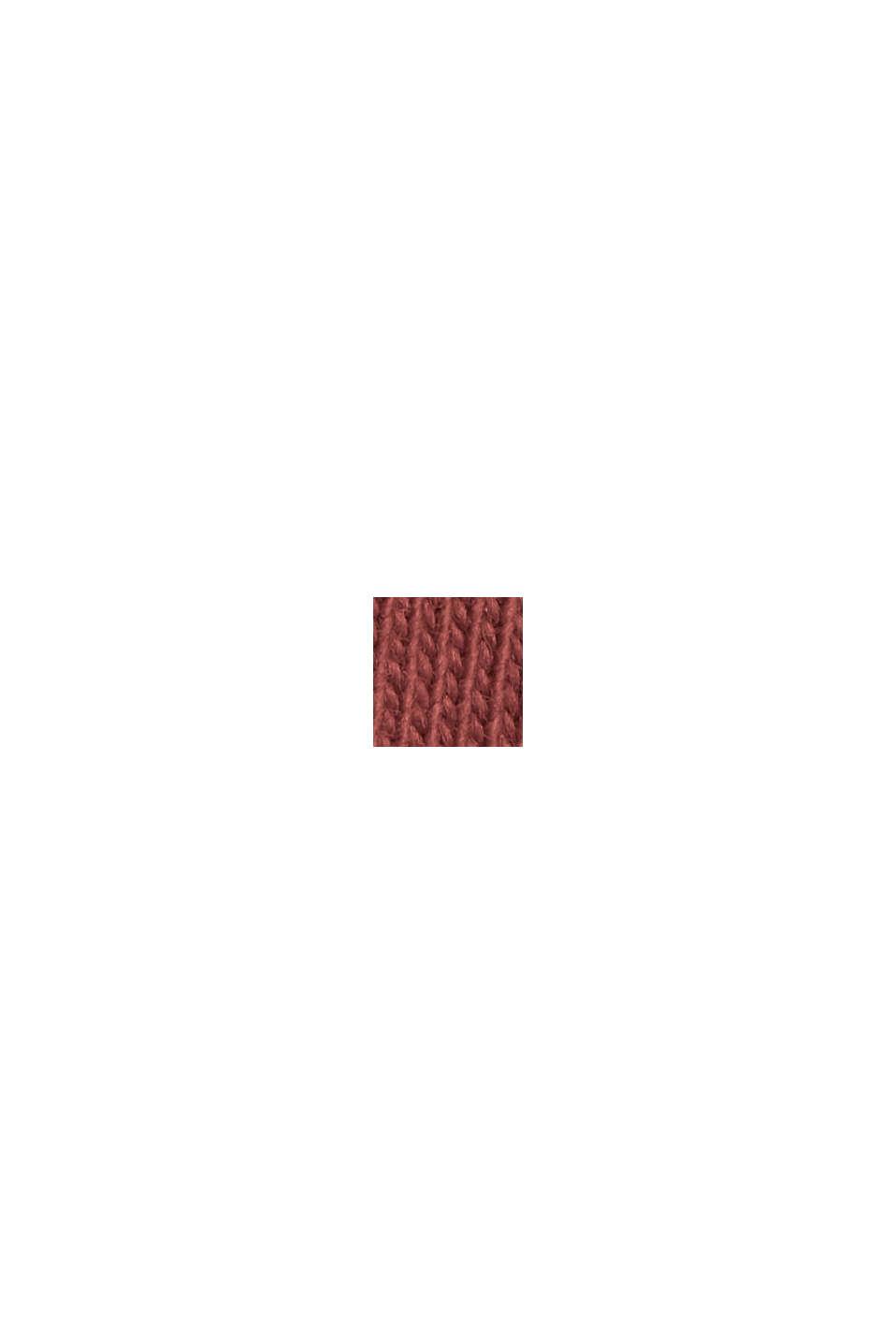 Jersey-T-Shirt aus 100% Bio-Baumwolle, BERRY RED, swatch