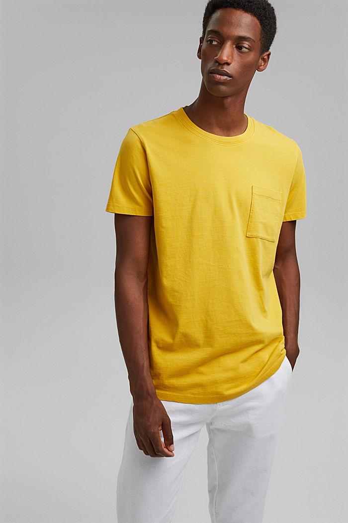 T-shirt en jersey, 100% coton bio, YELLOW, detail image number 0
