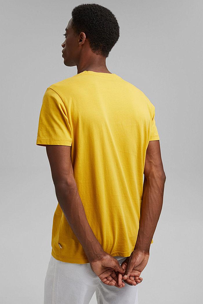 T-shirt en jersey, 100% coton bio, YELLOW, detail image number 3